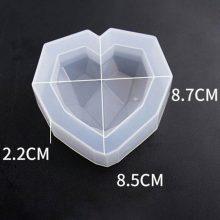 قالب سیلیکونی قلب کریستالی کد ۰۹مخصوص رزین اپوکسی