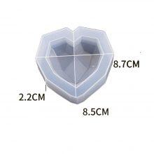قالب سیلیکونی رزین قلب کریستالی کد ۰۹